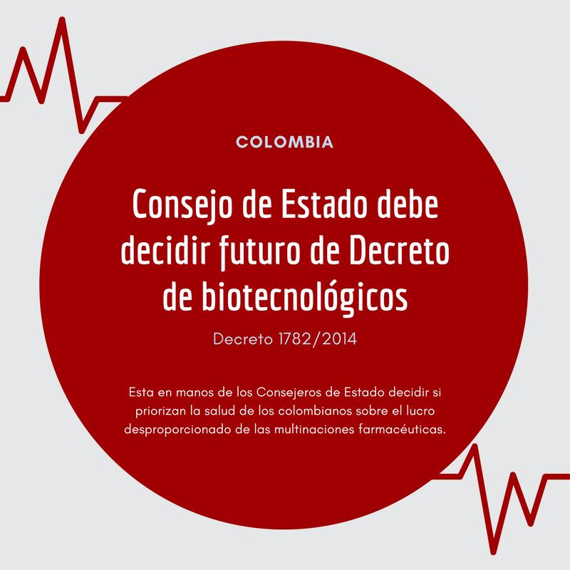 Biotecnológicos: en Colombia otra vez en riesgo el acceso a medicamentos de calidad y a precio justo
