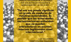 Cita presiones a colombia en acceso a medicamentos
